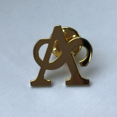 GOLDEN MONOGRAM PIN BADGE | The Arts Society online shopping